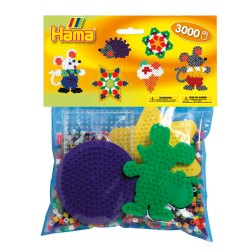 Hama Beads, Pack Principiantes para grupos, 3000 piezas, mod 4411