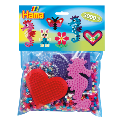 Hama Beads, Pack  Principiantes para grupos, 3000 piezas, mod 4412