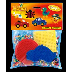 Hama Beads, Pack principiantes para grupos, 3000 piezas, mod 4413