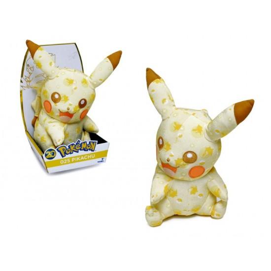 peluche, pokemon Pikachu , ORIGINAL, 27 cm Aniversario