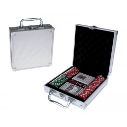 Juego de Mesa, Maleta Poker,metalica
