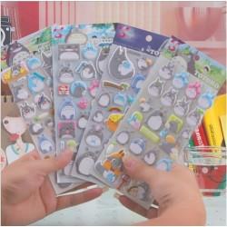 Stickers, Totoro, 3d esponjado excelente calidad