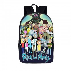 Mochila Impermeable, Rick y Morty y amigos , 33 cm Doble compartimiento