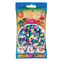 Hama Beads, MIDI Pasteles y Jelly 69, 1000 piezas