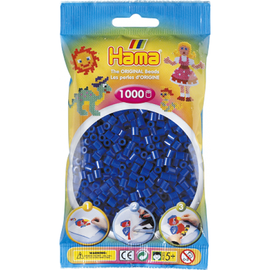 Hama Beads, MIDI AZUL, 1000 piezas