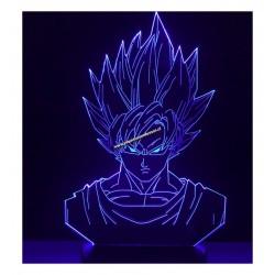 Lampara Efecto 3d, Goku (Busto)