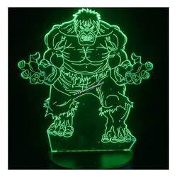 Lampara Efecto 3d, Hulk
