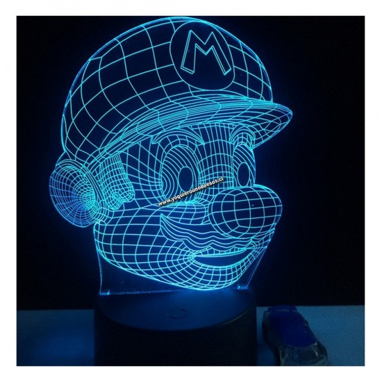 Lampara Efecto 3d,Mario