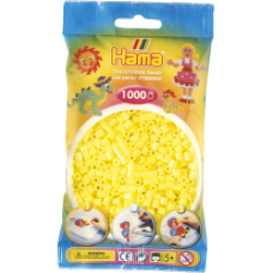 Hama Beads, MIDI Amarillo Pastel, 1000 piezas
