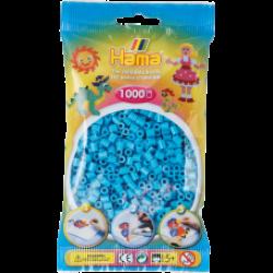 Hama Beads, MIDI Azul - CELESTE, 1000 piezas