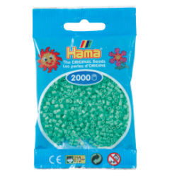 Hama Beads, Mini Verde Claro, de 2000 piezas