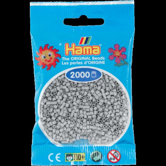 Hama Beads, Mini Gris claro, de 2000 piezas