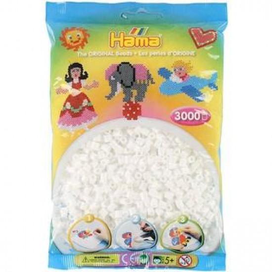 Hama Beads, MIDI Blanco, 3000 piezas