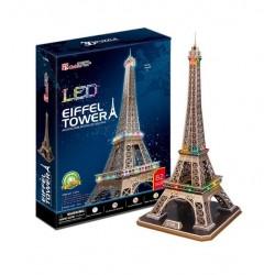 Puzzle 3d, TORRE EIFFEL, CON LUCES LED
