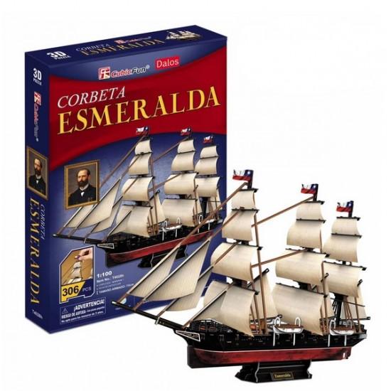 Puzzle 3d, CORBETA ESMERALDA DE ARTURO PRAT, CHILE