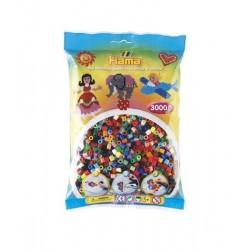 Hama Beads, MIDI 48 colores, 3000 piezas