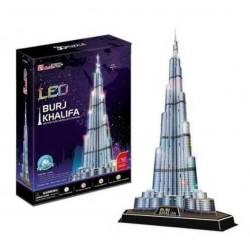 Puzzle 3d, BURJ KHALIFA, CON LUCES LED