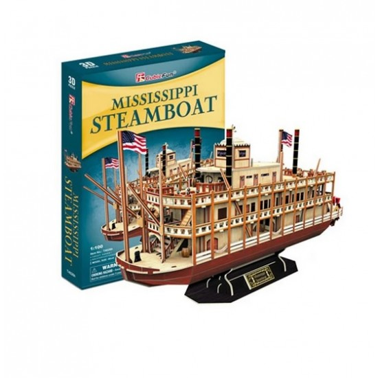 Puzzle 3d, MISSISSIPPI STEAMBOAT