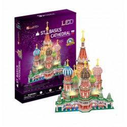 Puzzle 3d, CATEDRAL DE SAN BASILIO, CON LUCES LED