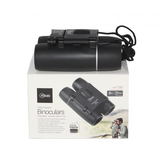 Binocular Microlab 21mm 8X C/Bolso