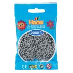 Hama Beads, Mini GRIS, 2000 piezas