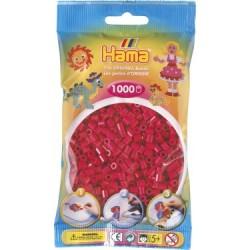 Hama Beads, ROJO GRANATE, 1000 piezas