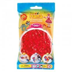 Hama Beads, MIDI ROJO, 1000 piezas