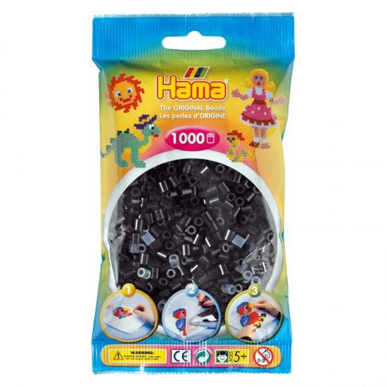 Hama Beads, MIDI color Negro, 1000 piezas