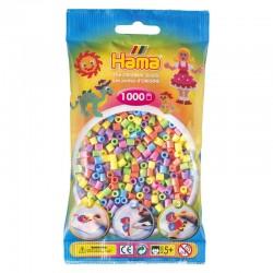 Hama Beads, MIDI PASTEL MIX  , 1000 piezas