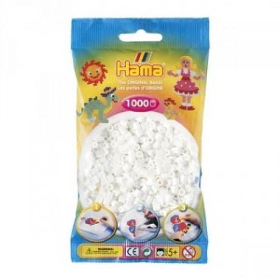 Hama Beads, MIDI blanco, 1000 piezas