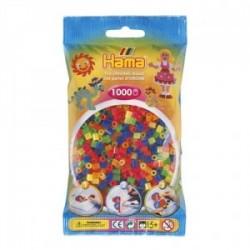 Hama Beads, MIDI MIX FLUOR , 1000 piezas