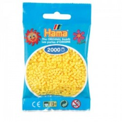 Hama Beads, Mini amarillo, de 2000 piezas