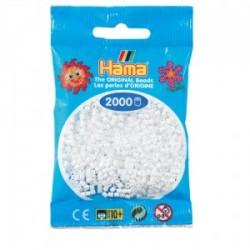 Hama Beads, Mini blanco, de 2000 piezas