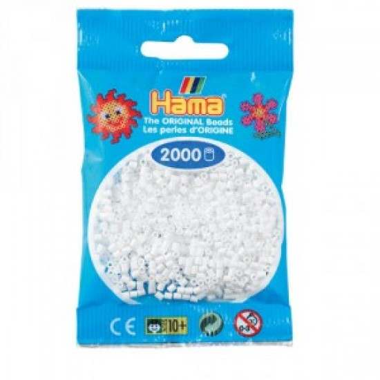 Hama Beads, Mini blanco, de 2000 piezas