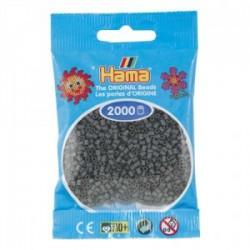 Hama Beads, Mini gris oscuro, de 2000 piezas