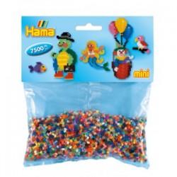 Hama Beads, mezcla de colores, 7500 piezas, MINI- cod 583