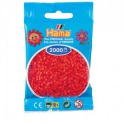 Hama Beads, Mini rojo, de 2000 piezas