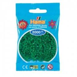 Hama Beads, Mini verde, de 2000 piezas