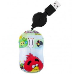 MOUSE RETRACTIL USB ANGRY BIRDS USB PARA PC O NOTEBOOK
