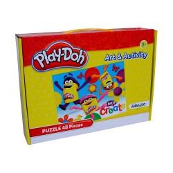 PUZZLE 48 PIEZAS,PLAY-DOH