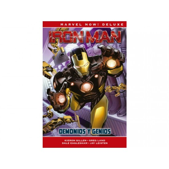 Comic, MARVEL Deluxe Now, IRON MAN DE KIERON GILLEN 1 (DEMONIOS Y GENIOS)