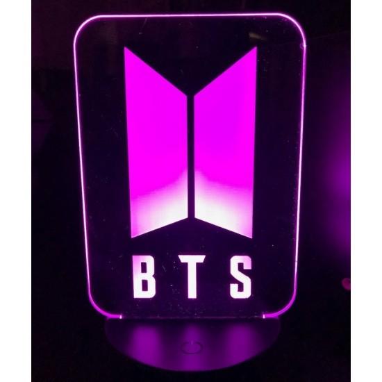 Lampara Efecto 3d,  BTS Kpop