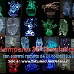 LAMPARAS SIMULACIÓN 3D