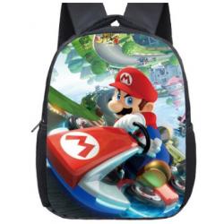 Mochila Impermeable, Mario kart  ,  42cm Doble compartimiento